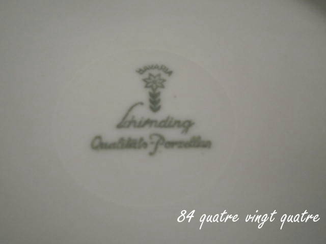 schirnding qualit ts porzellan bavaria 84 quatre vingt quatre. Black Bedroom Furniture Sets. Home Design Ideas